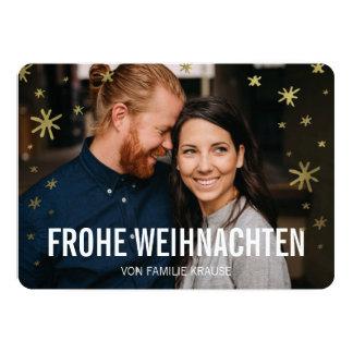 Foto Weihnachtskarte | Schneeflocken Convite 12.7 X 17.78cm