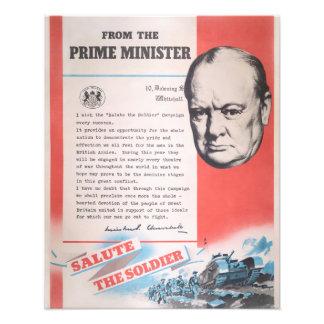 Foto Winston Churchill, reprodução do poster WW2