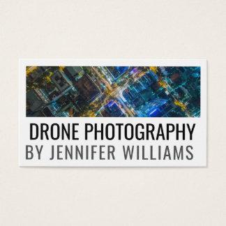 Fotografia aérea corajosa do zangão cartão de visitas