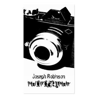 Fotografia branca preta alto contraste da câmera cartão de visita