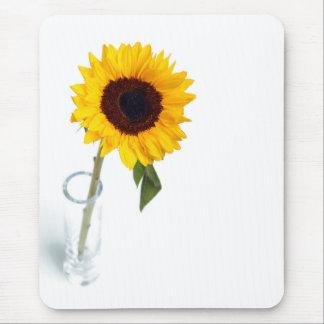 Fotografia brilhante ensolarada do girassol mouse pad