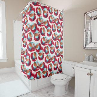 Fotografia colorida do copo e dos pires do café cortina para chuveiro