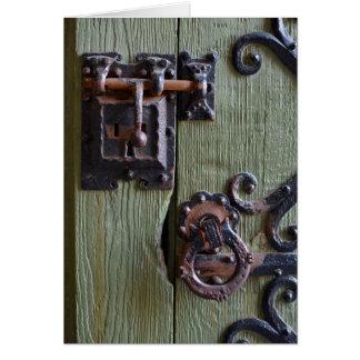 Fotografia da fechadura da porta do castelo de cartão comemorativo