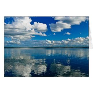 Fotografia da tarde do verão do lago cartão comemorativo