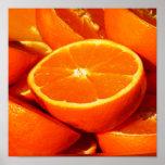 Fotografia das laranjas impressão