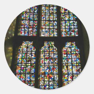 Fotografia de Barcelona do vitral de Sagrada Adesivos Em Formato Redondos