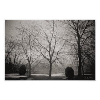 Fotografia de cena do rio do inverno de Michigan