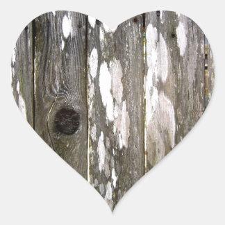 Fotografia de madeira da textura da cerca adesivo coração