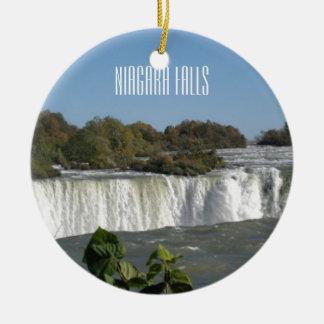 Fotografia de Niagara Falls Ornamento De Cerâmica Redondo