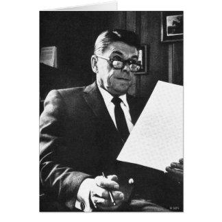 Fotografia de Ronald Reagan Cartão Comemorativo
