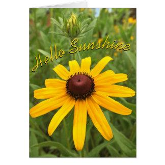 Fotografia de Susan de olhos pretos e de botão Cartão Comemorativo