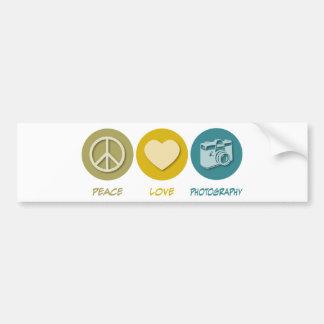 Fotografia do amor da paz adesivo para carro
