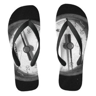Fotografia do calibre de pressão em chinelos