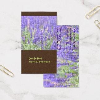 Fotografia do campo da lavanda + chocolate cartão de visitas