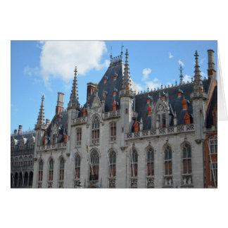 Fotografia do conto de fadas de Stadhuis Bruges Cartão Comemorativo