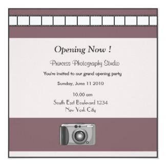 Fotografia do convite da grande inauguração convite quadrado 13.35 x 13.35cm