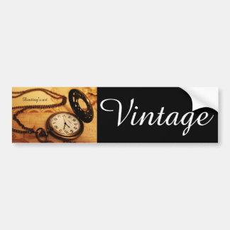 Fotografia do relógio de bolso do vintage adesivo para carro