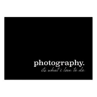 Fotografia é o que eu amo fazer!! Pérola Custum Cartão De Visita Grande