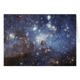 Fotografia estelar do espaço do berçário do LH 95 Cartão De Nota