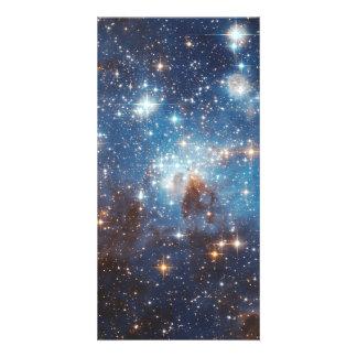 Fotografia estelar do espaço do berçário do LH 95 Cartões Com Foto Personalizados