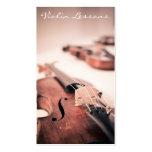 Fotografia legal do violino/violinista - cartão de cartões de visita