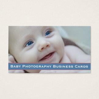 Fotografia preciosa do bebê cartão de visitas