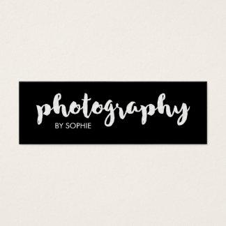Fotografia preto e branco cartão de visitas mini