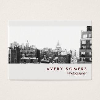 Fotografia profissional da inserção da foto do cartão de visitas