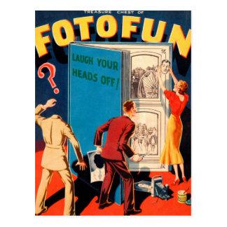 Fotografia retro Fotofun do kitsch do vintage Cartão Postal