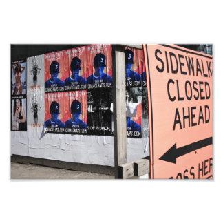 Fotografia urbana fechado da rua de New York do