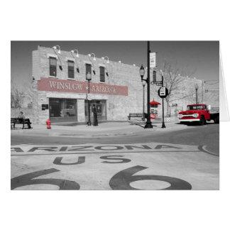 Fotografia vermelha do respingo da arizona de cartão comemorativo