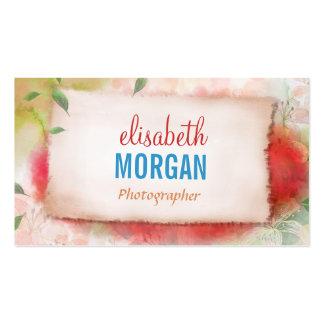 Fotógrafo - aguarela da arte floral modelos cartao de visita