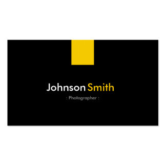 Fotógrafo - amarelo ambarino moderno cartoes de visitas