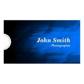 Fotógrafo - azul escuro moderno cartoes de visitas