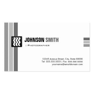 Fotógrafo - branco preto criativo cartão de visita