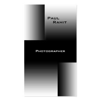 Fotógrafo branco preto de BW 7 do cartão de visita