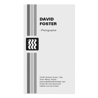 Fotógrafo - branco preto moderno modelo de cartões de visita