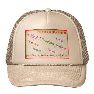 Fotógrafo com fundo transparente boné