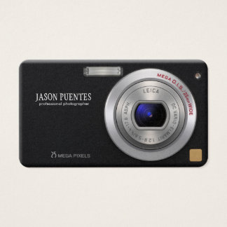 Fotógrafo compacto do profissional da câmara cartão de visitas