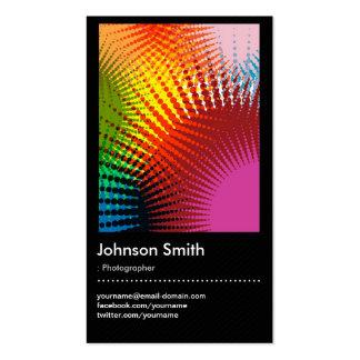 Fotógrafo - cores na moda do arco-íris cartão de visita