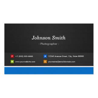 Fotógrafo - customizável profissional cartão de visita