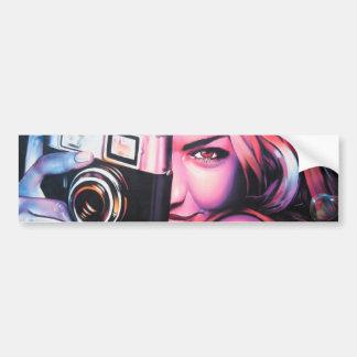 Fotógrafo da menina dos grafites adesivo para carro