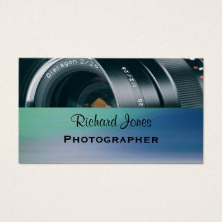 Fotógrafo da objectiva de Photagraphy Cartão De Visitas