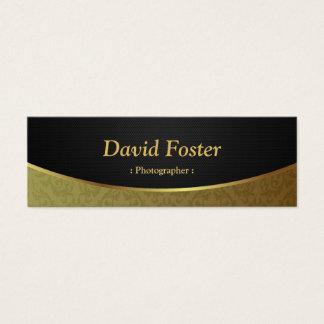 Fotógrafo - damasco preto do ouro cartão de visitas mini
