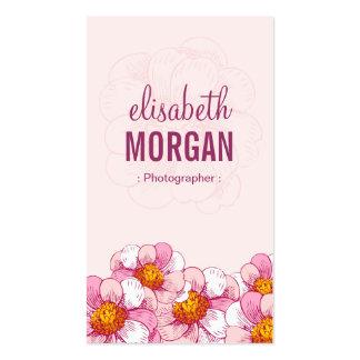 Fotógrafo - flores cor-de-rosa do boutique modelo cartão de visita