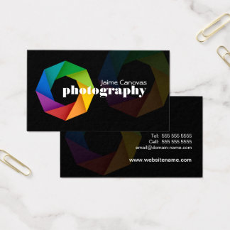 Fotógrafo moderno cartão de visitas