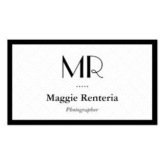 Fotógrafo - monograma à moda limpo
