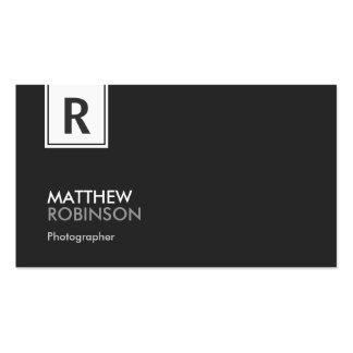 Fotógrafo - monograma elegante moderno cartão de visita