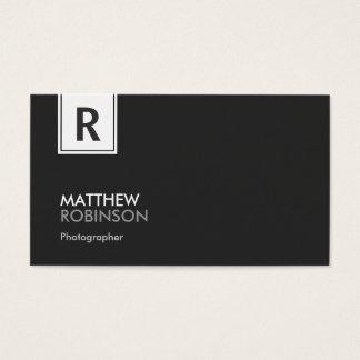 Fotógrafo - monograma elegante moderno cartão de visitas