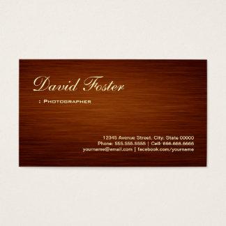 Fotógrafo - olhar de madeira da grão cartão de visitas